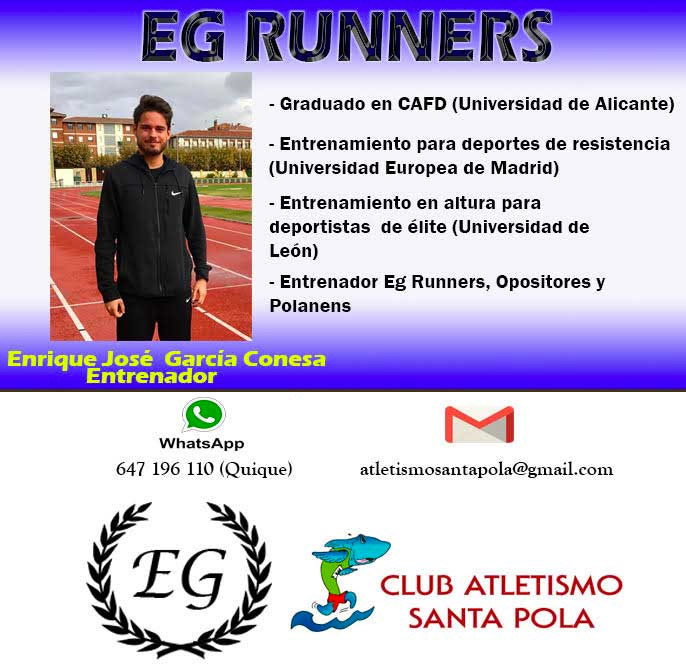 Entrenador Mitja Marató Internacional Vila de Santa Pola