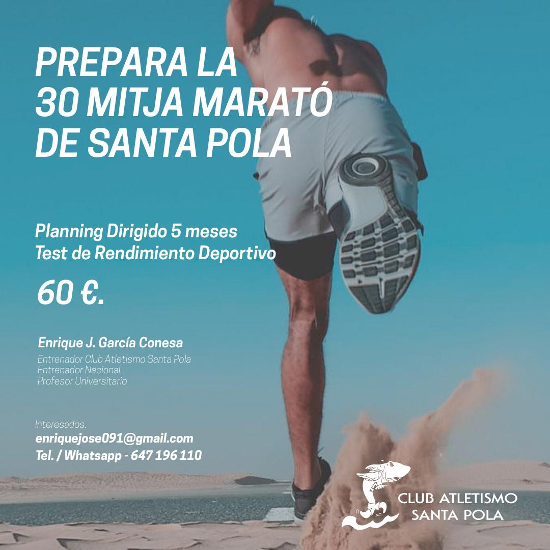 Entrenamientos Dirigidos Mitja Marató Internacional Vila de Santa Pola